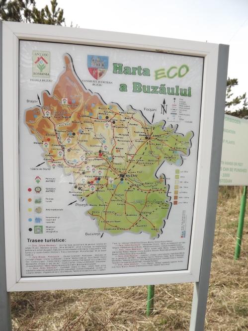 harta obiective turistice buzau