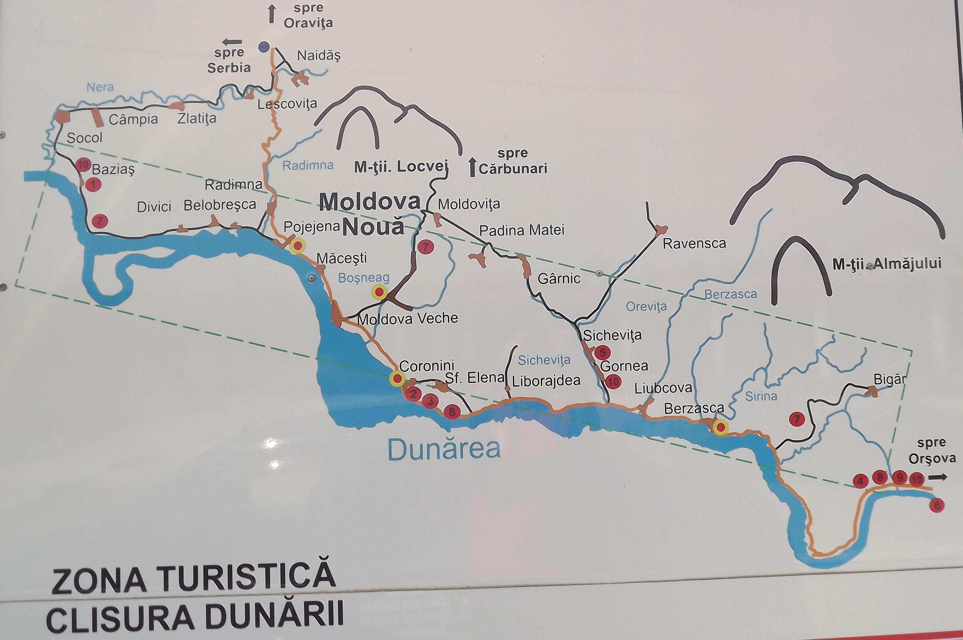 Clisura Dunarii Malul Romanesc Si Malul Sarbesc Peregrinprinlume