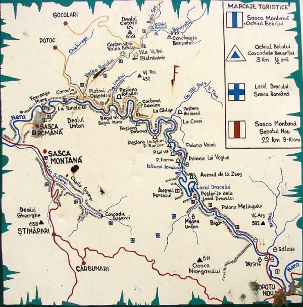 Harta Nera Marcaje Trasee Turistice Peregrinprinlume